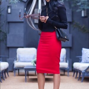Red pencil skirt S, M, L NWT